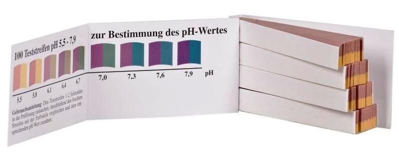 Lakmusov papir za meritev pH sline