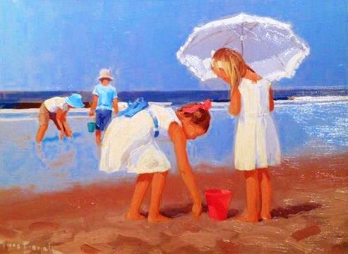 Otroci na plaži