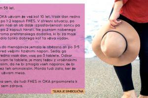 Izkušnje vegetarijanke v menopavzi s FHES in OKA