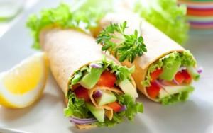 Zelenjavni Tortilja Sendvič