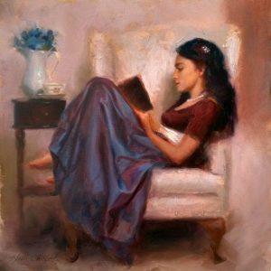 Ženska bere knjigo